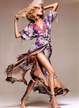 Inspired by flowers and plants in decor and fashion - Harpers Bazaar US - Anja Rubik by Greg Kadel.jpg