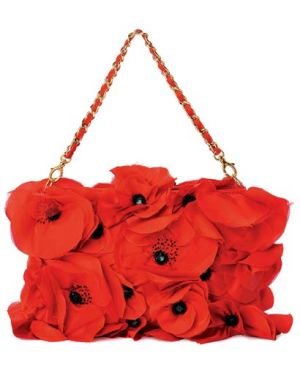 Inspired by flowers and plants in decor and fashion - Silk chiffon purse Blugirl Handbags.jpg