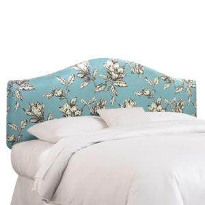 Photos of floral design - Skyline Twin Headboard - Floral Headboard - Blue.jpg