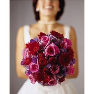Photos of flowers - Floral patterns - pink and purple wedding bouquet.jpg
