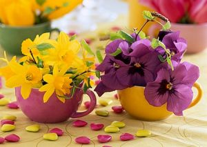 Using floral in the home and in fashion - purple-yellow flowers.JPG