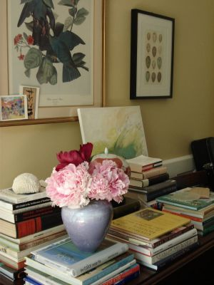 Using floral in the home and in fashion - sibella court peonies on table.JPG