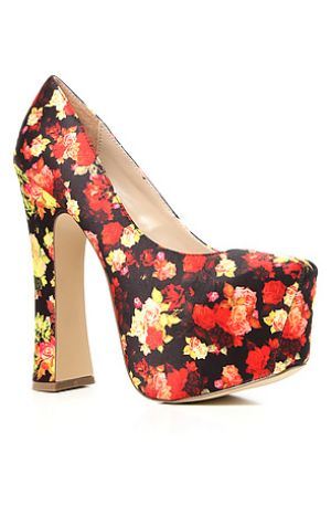 Vintage floral inspiration - DV8 by Dolce Vita The Vixen Shoe in Red Floral.JPG