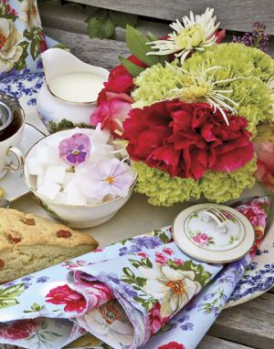 Mothers Day Tea Party - Colorful Spread of floral elements - Countryliving.com - picnic.jpg