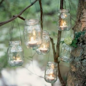 Picnic lighting - tea lights in mason jars.jpg