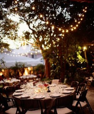 Picnic tables - evening with garden lighting.jpg