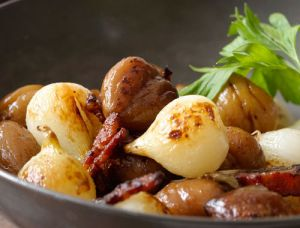 Pictures of delicious food - Sauteed Chestnuts Onions and Bacon Recipe.jpg