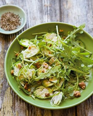 c97-food photos - Brussels Sprout and Arugula Salad with Walnuts from Williams-Sonoma.jpg