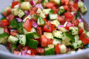 delicious food images - food & wine - cucumber tomato salad.jpg