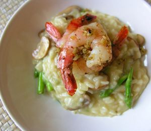 yummy food for dinner - food photos - asparagus prawn risotto.jpg