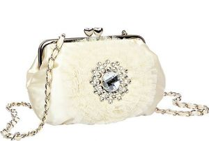 Betsey Johnson CRYSTAL AND TULLE DETAIL CLUTCH CREAM.jpg