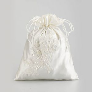 Budget wedding - Lovely Satinwith Sequins and Imitation Pearl Wedding Bridal Purse.jpg