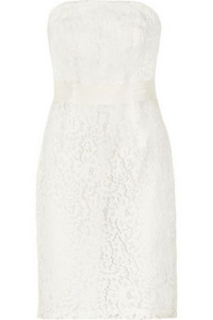 Budgeting a wedding - wedding dresses and accessories for less - J Crew Laura strapless lace dress.jpg