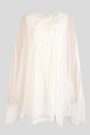 My wedding - bride to be - Long Sleeves Pleated Details Blouse - White - Oasap.jpg