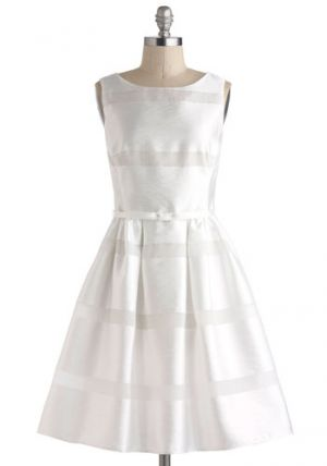 My wedding - bride to be - ModCloth Dinner Party Darling Dress in White.jpg