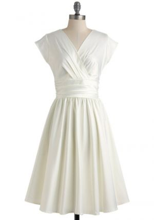 Wedding colours - White silver cream - Love You Ivory Day Dress Modcloth.jpg