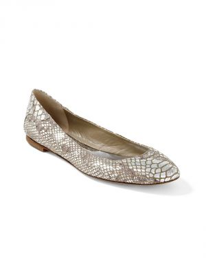 Wedding on a budget -Womens Silver Silver Snake-Print Flat by White House Black Market.jpg