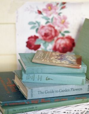 Countryliving.com - Flower Power from the Flea Market - stack of books.JPG