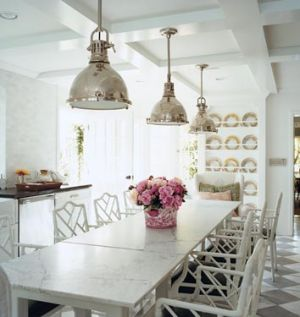 Photos - White beach house interiors - Ideas for decorating your beach house - luscious classic kitchens pictures.jpg