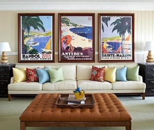 Relaxed private beach houses photos - beach nautical themed vintage-posters.jpg