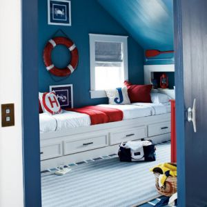 Summer beach house pictures - holiday beach house - Coastal Living Nautical Bunk Room NC.jpeg