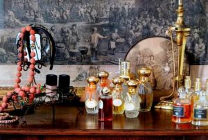 Dressing table Mas de Berard vintage perfume bottles.jpg