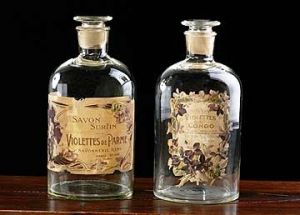French Vintage Glass Violettes Perfume Bottles.jpg