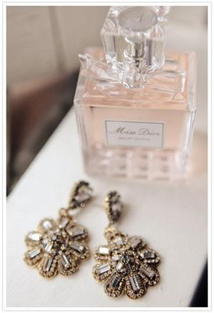 Miss Dior perfume and ornate earrings  - mylusciouslife.jpg