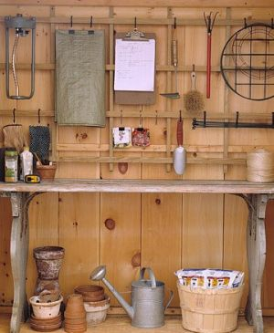 Laundry rooms and mudrooms - mylusciouslife.com - Martha Stewart potting shed