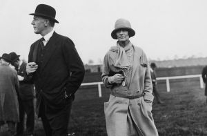 Coco Chanel and the Duke of Westminster at the races in 1924.jpg