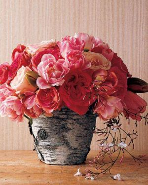 red and pink flowers in vase - a glamorous life vase.jpg