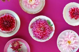 flowers on vintage saucers fromwww.frolic-blog.com.jpg