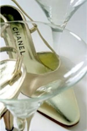 mylusciouslife.com - Chanel gold shoes and martini glasses.jpg