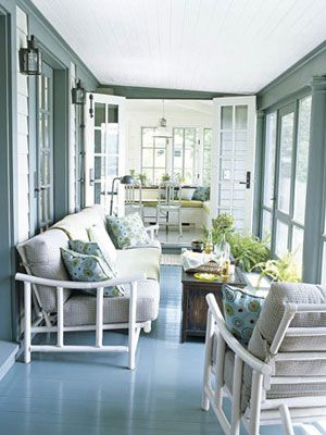 ... Hamptons Collection; Luscious Outdoor Living Mylusciouslife Com Camp  Porch Green Blue