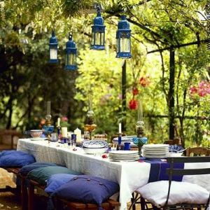 garden decor and design - patio - terrace  - moroccan party via pinterest.jpg