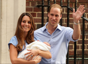 The Duke and Duchess of Cambridge outside the hospital with their newborn son - July 2013.PNG