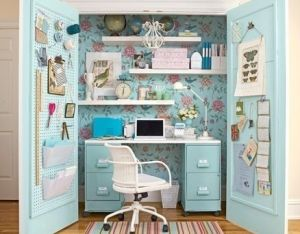Clever use of space - luscious office in a cupboard -  design ideas.jpg