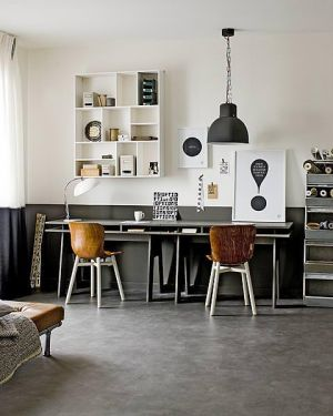 Industrial style home office via FrenchByDesign.jpg