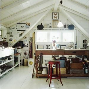 luscious office in the attic - decorating and design ideas.jpg