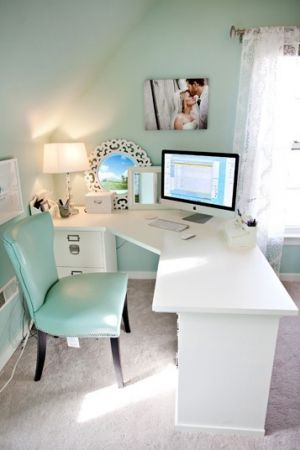 luscious office using mint green - design ideas.jpg
