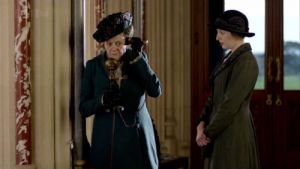 downton abbey S2 dowager countess violet on phone with shrimpy.jpg