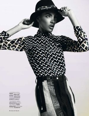 Black and white lusciousness - Jourdan Dunn for Vogue Russia October 2012 by Richard Bush.jpg