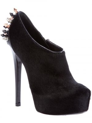 Black and white photos - Black Ruthie Davis - Spike II - pony fur bootie.jpg