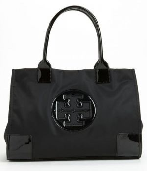 Tory Burch Mini Nylon Tote Black via mylusciouslife.jpg
