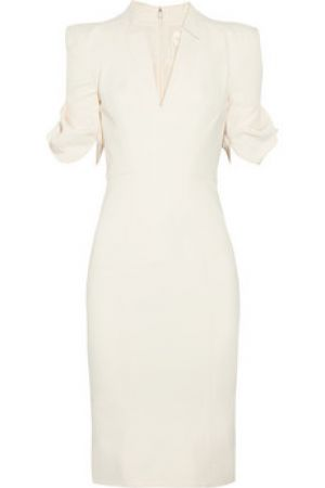 Zac Posen Cotton-blend twill dress in white.jpg