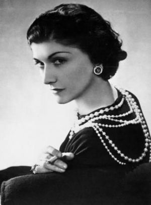Coco Chanel in black dress with strands of pearls - fashion quotes by coco chanel - mylusciouslife.jpg