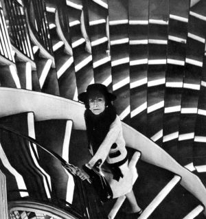 coco gabrielle chanel photos - Coco Chanel on the staircase at Chanel.jpg
