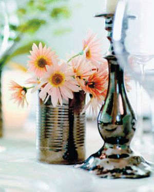 Flowers in tin cans - Living lusciously.jpg