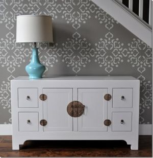 Stenciled Wall via Isabelle and Max Rooms - Living lusciously.jpg