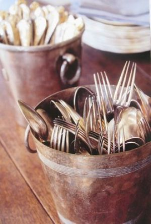 cutlery in tin pots - Living lusciously.jpg